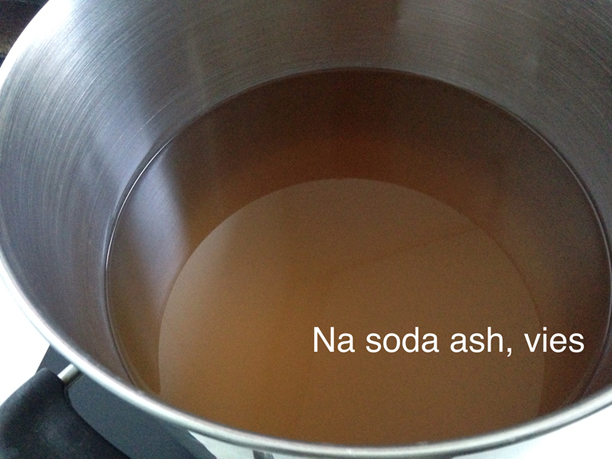 bruin water na de soda ash